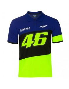 Racing polo bleu Yamaha