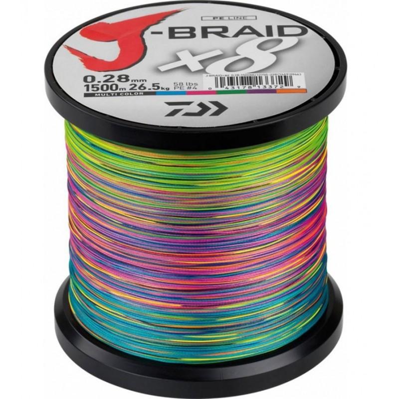 J BRAID X8 Multicolore